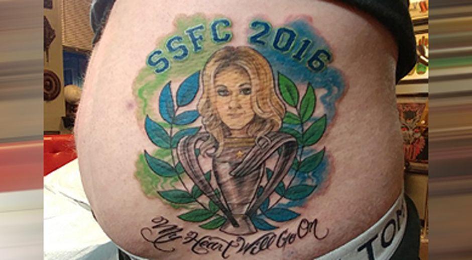 Die verr cktesten tattoos der fu ball fans for Seattle sounders tattoo
