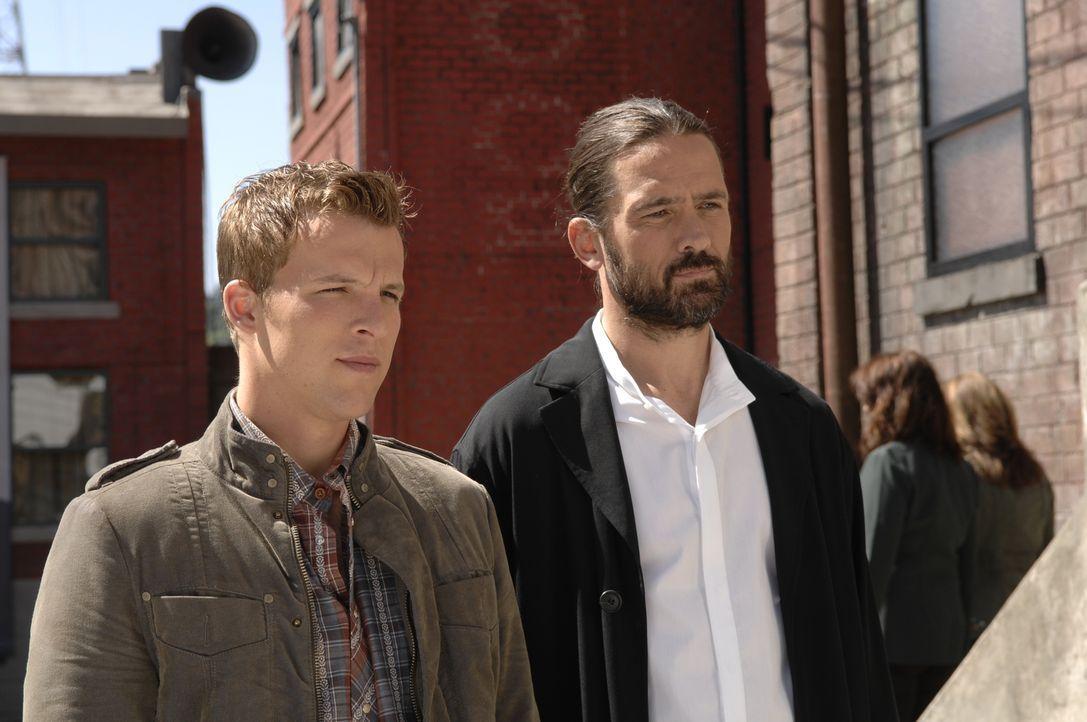 Für Jordans (Billy Campbell, r.) Pläne ist Kyles (Chad Faust, l.) neuste Entdeckung ein wahrer Segen ...