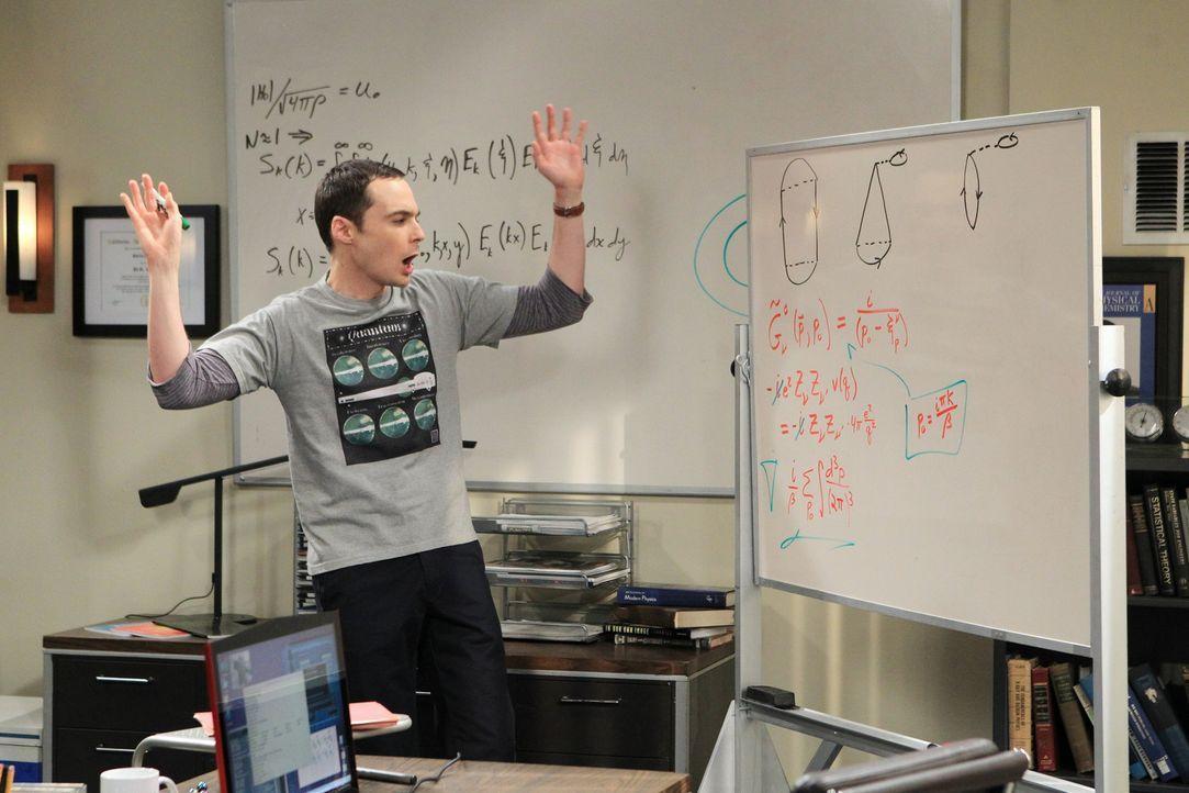 Ist dazu gezwungen, mit Barry Kripke zusammenzuarbeiten, was ihn in eine Krise stürzt: Sheldon (Jim Parsons) ... - Bildquelle: Warner Bros. Television