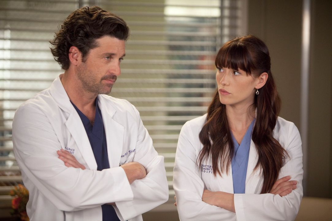 Ein anstrengender Arbeitstag wartet auf Derek (Patrick Dempsey, l.) und Lexie (Chyler Leigh, r.) ... - Bildquelle: ABC Studios