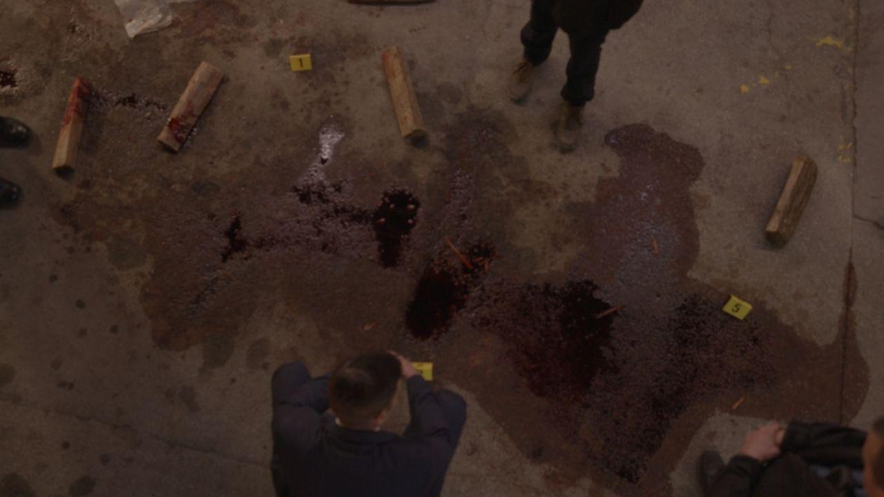 Mord auf dem Parkplatz: Kann Ermittler Joe Kenda (Carl Marino, r.) mit den Hinweisen einer betrunkenen Zeugin und der Analyse der Blutspuren den Mör... - Bildquelle: Jupiter Entertainment