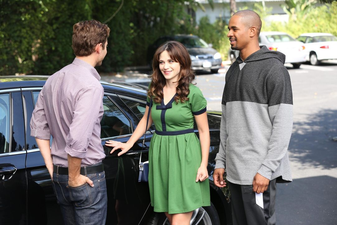 Ryan (Julian Morris, l.), Jess (Zooey Deschanel, M.) und Coach (Damon Wayans Jr., r.) steht ein besonderes Wochenende bevor ... - Bildquelle: 2014 Twentieth Century Fox Film Corporation. All rights reserved.