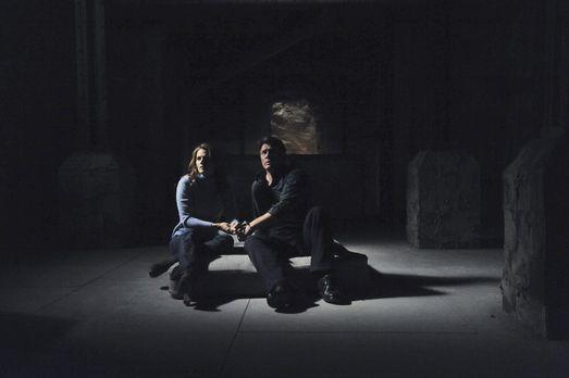 Castle - Richard Castle (Nathan Fillion, r.) und Kate Beckett (Stana Katic, l...