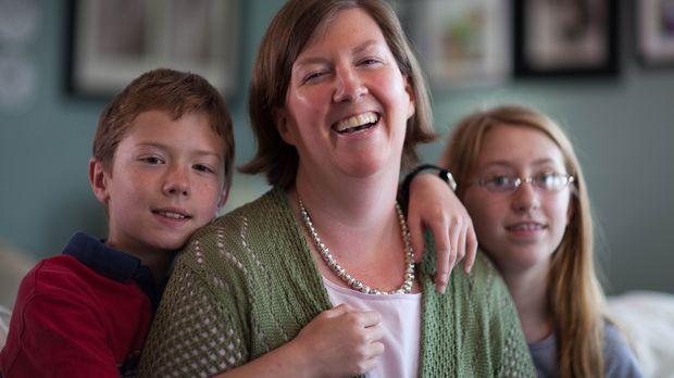 Fehler der Natur? Karen McCalla ist nicht in der Lage, die Gesichter ihrer ei...