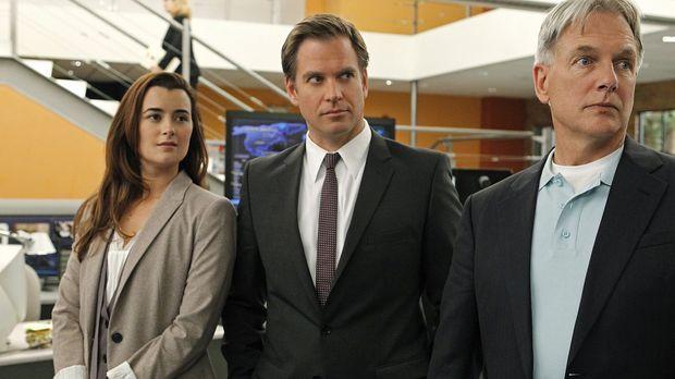 Ermitteln in einem neuen Fall: Gibbs (Mark Harmon, r.), DiNozzo (Michael Weat...