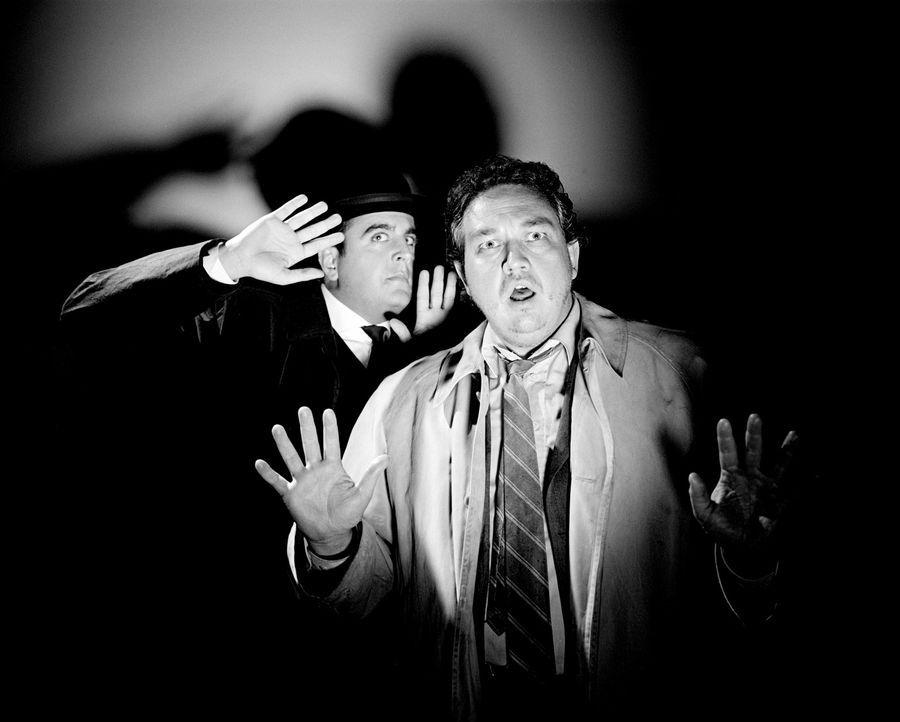 Der Mönch mit der Peitsche, der Frosch mit der Maske, der Bucklige von SoHo, die Bande des Schreckens, der Schwarze Abt und Inspector Very Long (Ba... - Bildquelle: Rat Pack Filmproduktion GmbH