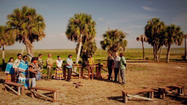 Die Seminolen heißen Shini Somara (4.v.r.),  Madison Cowan (r.), Michael Psil...