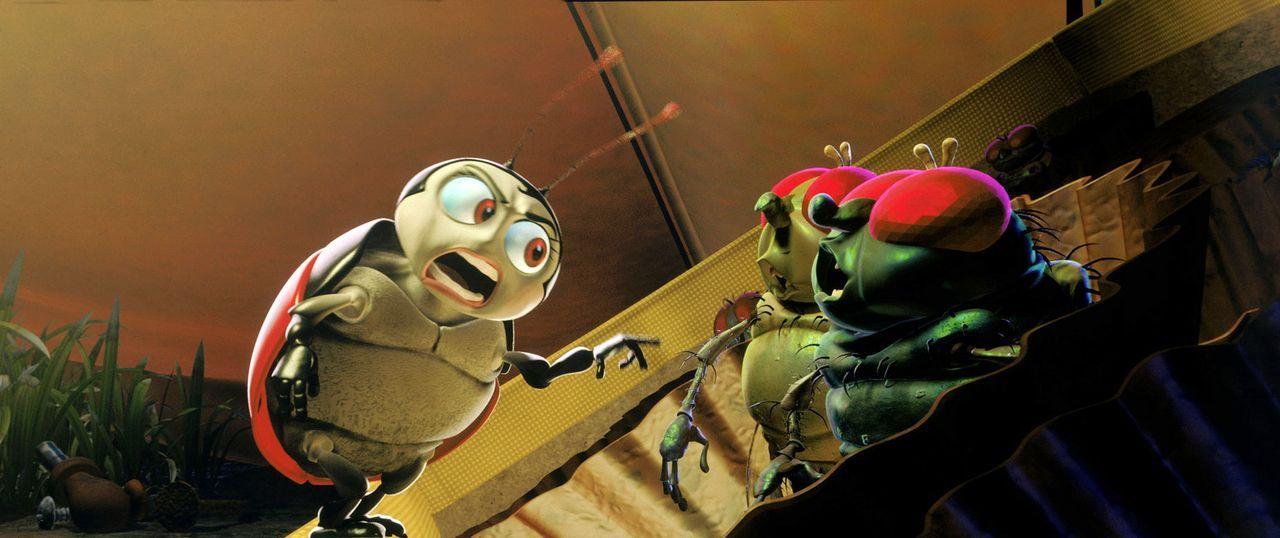 Wenn Marienkäfer Franzi (l.) wütend ist, sollte man ihm besser aus dem Weg gehen ... - Bildquelle: Disney/Pixar