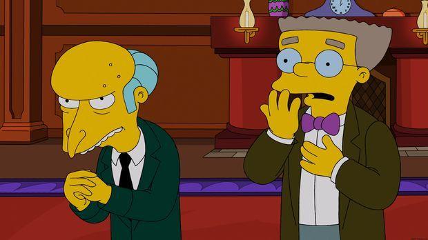 Mr. Burns (l.) schenkt seinen Mitarbeitern zu Weihnachten eine hypermoderne D...