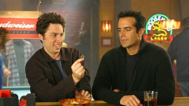 J.D. (Zach Braff, l.) trifft auf den Magier David Copperfield (r.) ... © Touc...