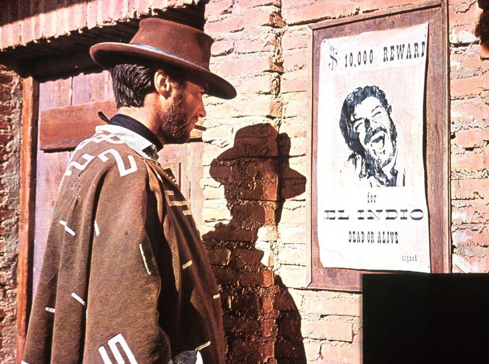Der ausgebuffte Kopfgeldjäger Monco (Clint Eastwood) erschleicht sich den Zugang zu Indios Mordbande, indem er einen der ihren aus dem Gefängnis bef... - Bildquelle: United Artists