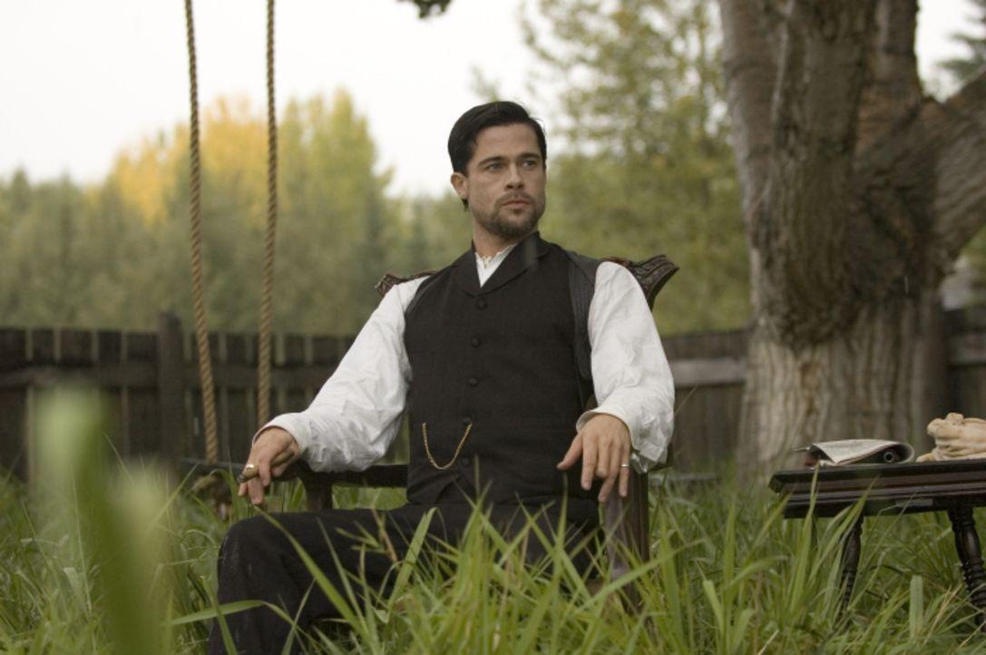 Jesse James (Brad Pitt) wird zur Gefahr für alle Gangmitglieder. Er ist zwar einerseits charismatisch und ein begabter Anführer, jedoch auch unvor... - Bildquelle: TM and   2007 Warner Bros. Entertainment Inc. All Rights Reserved.