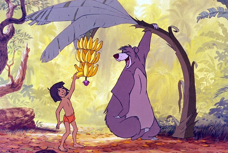 Der Bär Balu bringt dem Menschenjungen Mogli alles bei, was er über das Leben im Dschungel wissen muss ... - Bildquelle: Disney Enterprises, Inc.  All rights reserved