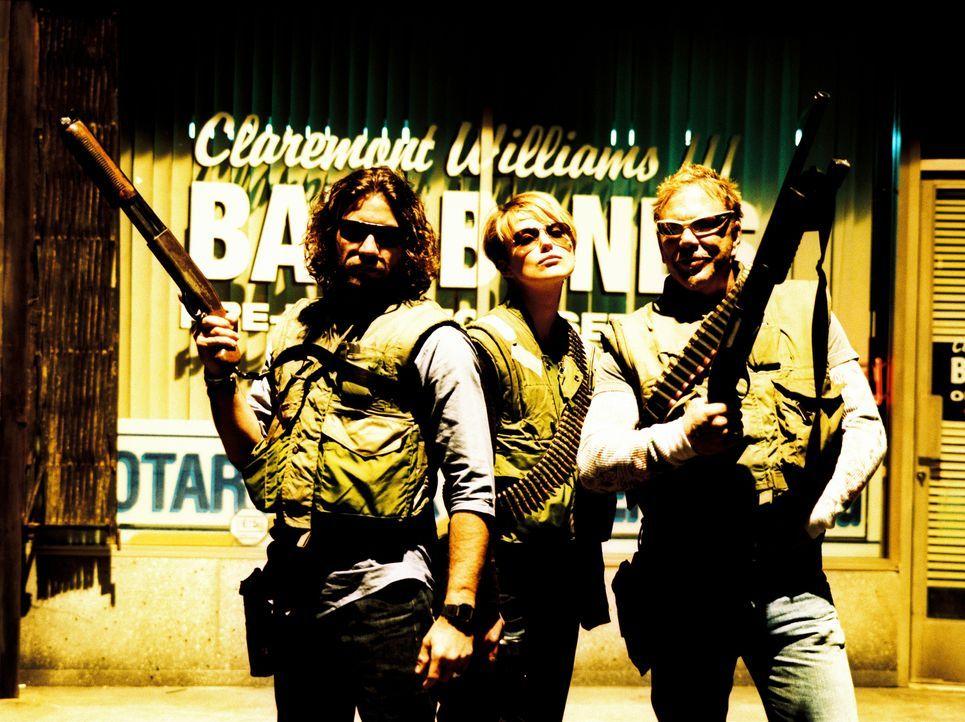"""Brutales Dreiergespann: Der """"Bounty Squad"""" (v.l.n.r.: Edgar Ramirez, Keira Knightley, Mickey Rourke) ... - Bildquelle: Constantin Film"""