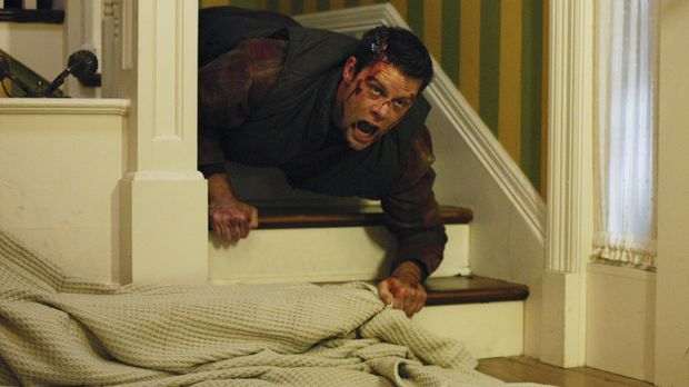Melindas Freundin Andrea wird in ihrer Wohnung von Dennis Mcloughlins (Matt K...