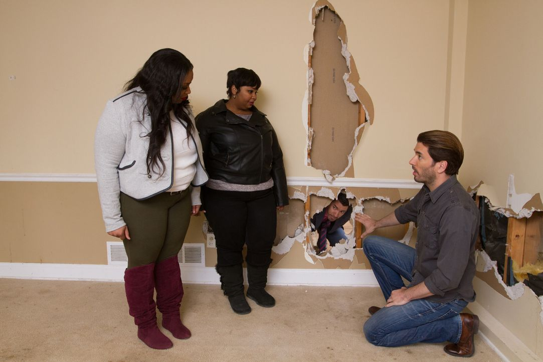 (v.l.n.r.) Dionna Palmer, Natasha Leonard, Jonathan Scott - Bildquelle: Jessica McGowan 2014, HGTV/Scripps Networks, LLC.  All Rights Reserved/Jessica McGowan/Getty Images