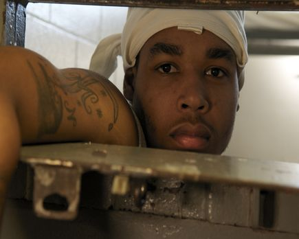 Stacy Ayers sitz in seiner Isolierzelle in der Southern Ohio Correctional Ein...