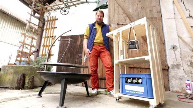 heimwerken video grill beistelltisch mit rollen selber bauen kabeleins. Black Bedroom Furniture Sets. Home Design Ideas