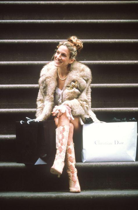 Vom Schuhe kaufen nach Hause zurückgekehrt, findet Carrie (Sarah Jessica Parker) den Lokalpolitiker Bill Kelley vor ihrer Tür vor ... - Bildquelle: Paramount Pictures