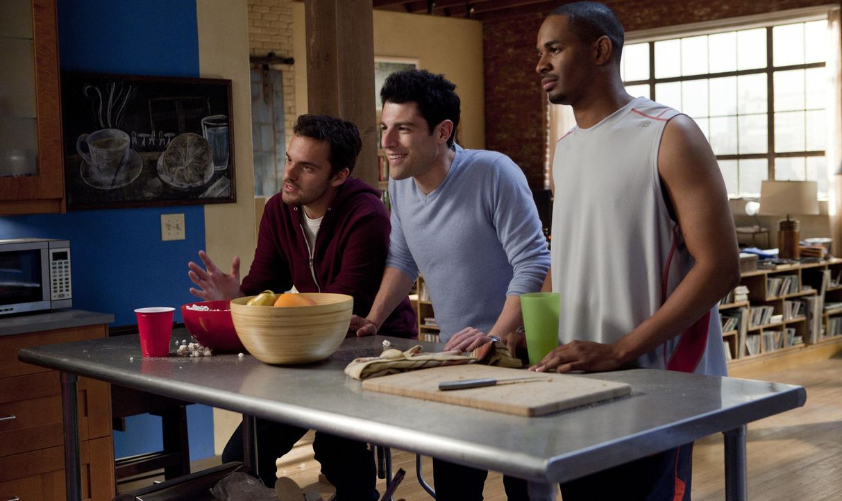 Als Jess herausfindet, dass ihr Freund sie betrügt, packt sie ihre Sachen und findet in einer dreiköpfigen Männer-WG ein neues zu Hause: Barkeepe... - Bildquelle: 20th Century Fox