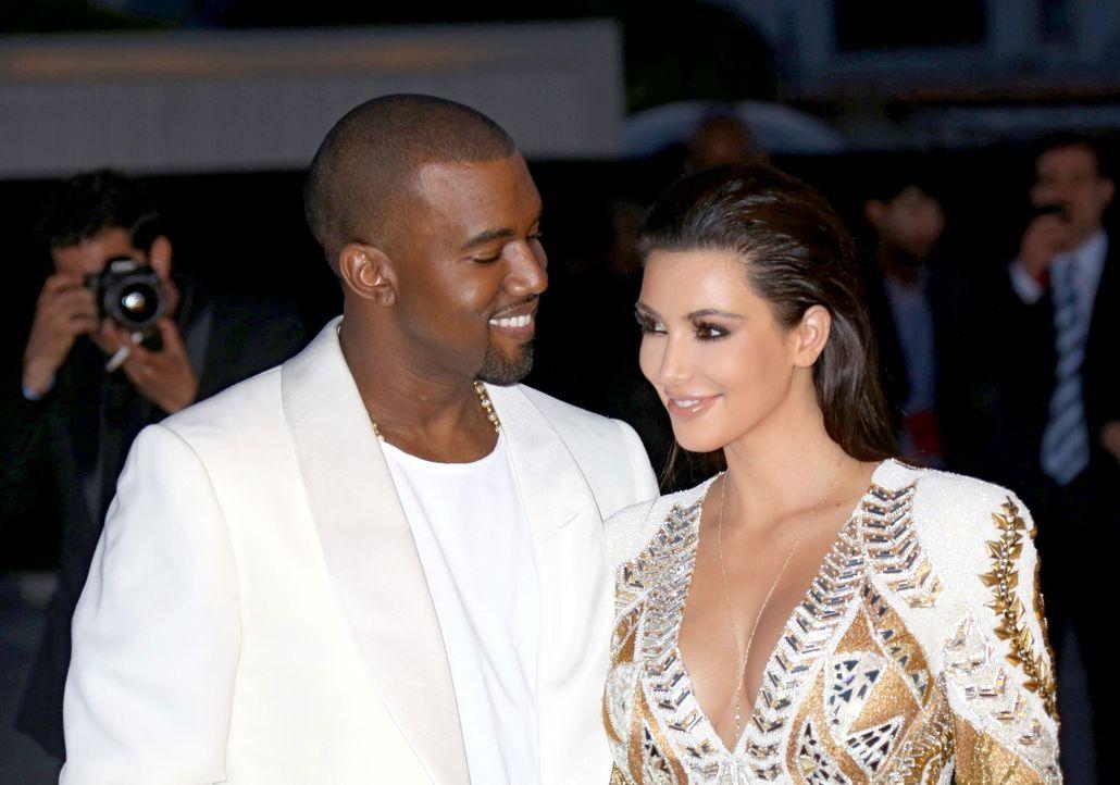 Kanye West und Kim Kardashian - Bildquelle: +++(c) dpa - Bildfunk+++ Verwendung weltweit