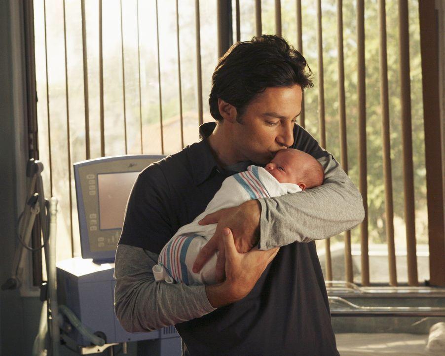 Trotz aller Bedenken entscheidet sich J.D. (Zach Braff) für sein Kind ... - Bildquelle: Touchstone Television