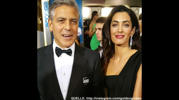 Golden-Globes-George-Clooney-Amal-Alamuddin-Instagram - Bildquelle: http://instagram.com/goldenglobes