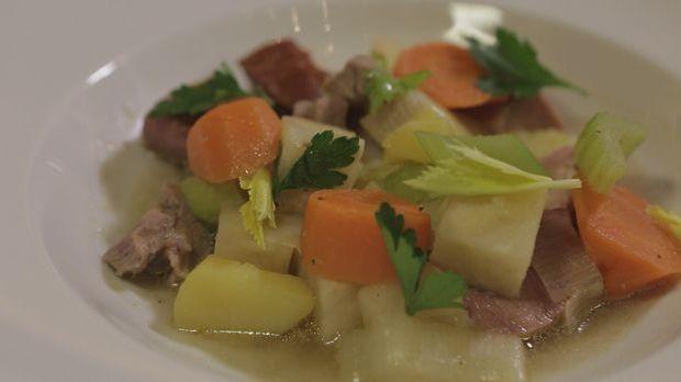 Gemüseeintopf mit Kasseler und Schweinenacken