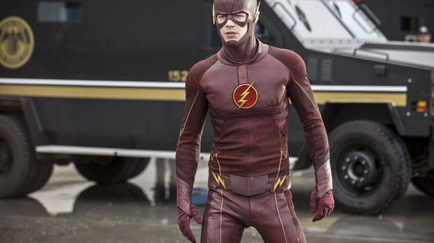 Nachdem Iris die wahre Identität von The Flash (Grant Gustin) erkannt hat, st...