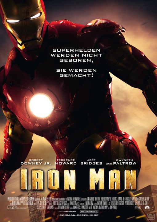 Iron Man - Plakat - Bildquelle: 2008 MVL Film Rinance LLC. All Rights reserved.