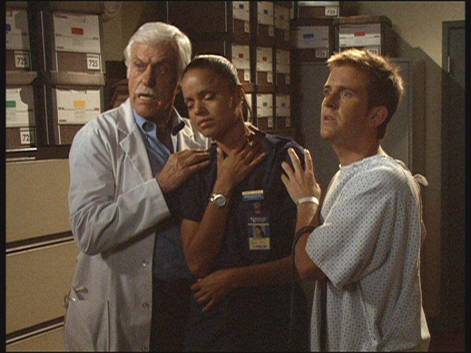 Mark (Dick Van Dyke, l.) und Jesse (Charlie Schlatter, r.) haben in letzter Sekunde Amanda (Victoria Rowell, M.) vor einem Anschlag eines Serienmör... - Bildquelle: Viacom
