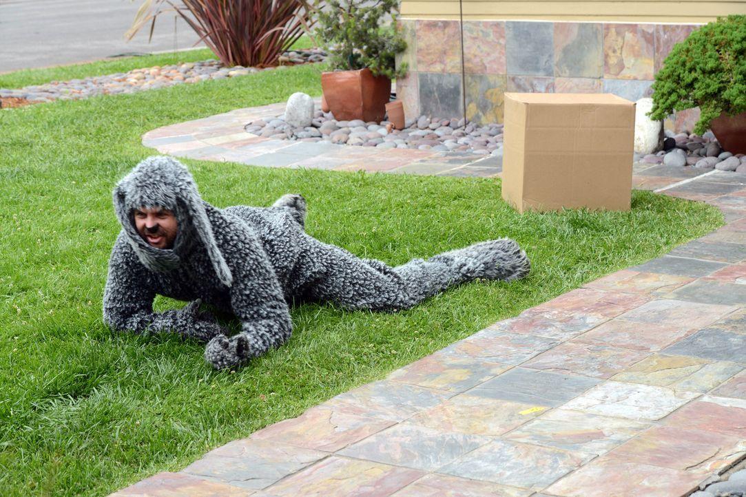 Nachdem Wilfred (Jason Gann) von einer Katze gekratzt wurde, schmiedet er blutrünstige Rachepläne ... - Bildquelle: 2011 FX Networks, LLC. All rights reserved.