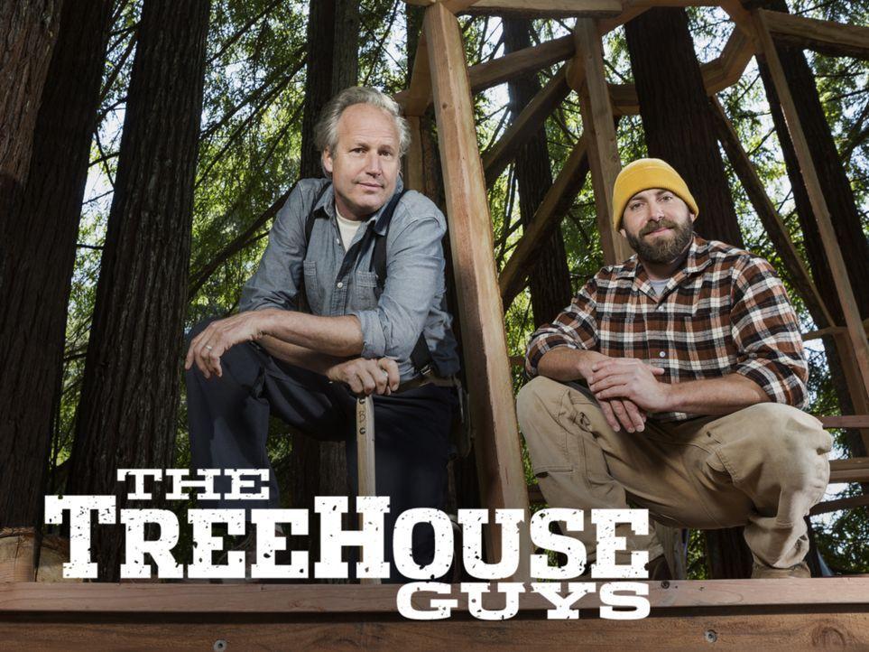 """Die Treehouse Guys James """"B'fer"""" Roth (l.), Chris """"Ka-V"""" Haake (r.) und ihre Baumhaus-Crew machen jeden noch so unmöglich erscheinenden Baumhaus-Tra... - Bildquelle: 2015, DIY Network/Scripps Networks, LLC. All Rights Reserved."""