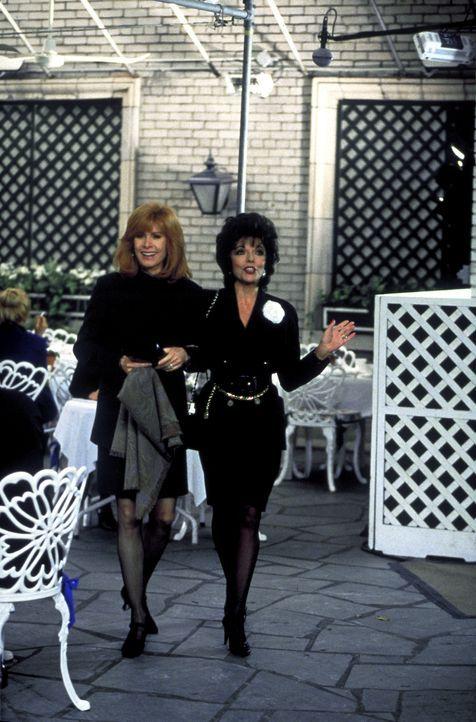 Jennifer Hart (Stefanie Powers, l.) und ihre alte Freundin, die Schriftstellerin Camilla Ashley (Joan Collins, r.) freuen sich sehr, sich wiederzuse... - Bildquelle: Columbia Pictures