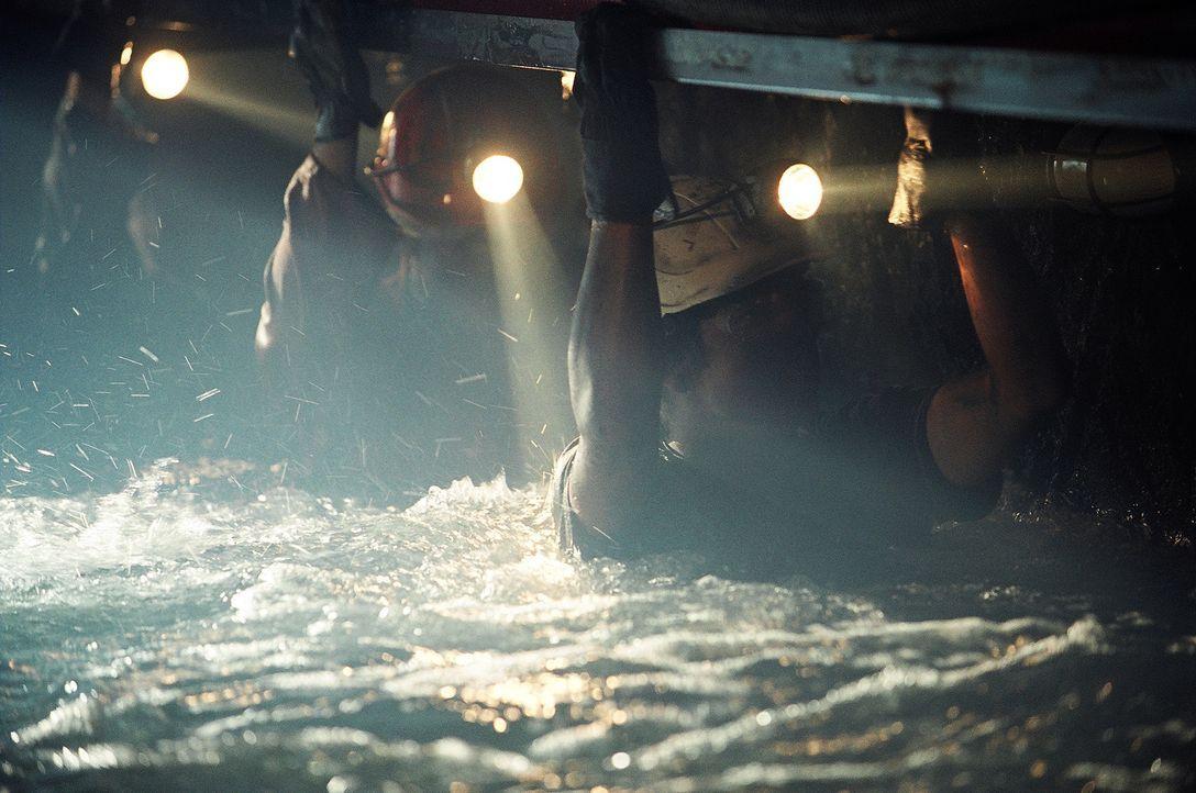 Immer wieder müssen Rabbit (Ben Castles) und seine Freunde vor den stetig steigenden Wassermassen in höher gelegene Stollen flüchten. Doch dann s... - Bildquelle: Regent Entertainment
