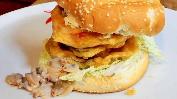 Venusmuschel-Burger