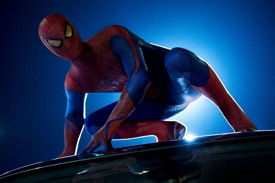 Als der junge Schüler Peter Parker (Andrew Garfield) von einer Spinne gebissen, gerät sein Leben total aus den Fugen. Fortan jagt er als Spiderman d... - Bildquelle: 2012 Columbia Pictures Industries, Inc.  All Rights Reserved.
