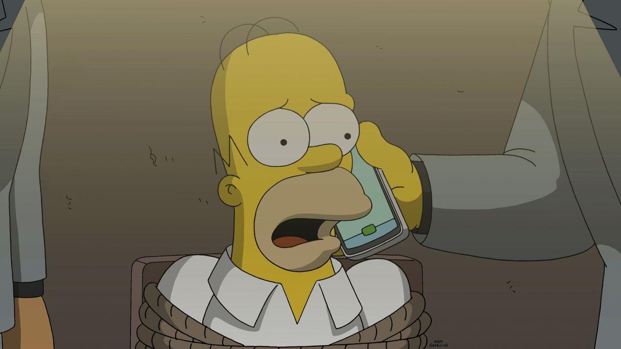 Völlig in Panik versucht Homer, seine Frau zu überzeugen, mit dem Betrug aufzuhören. Doch dann passiert etwas unerwartetes ... - Bildquelle: 2014 Twentieth Century Fox Film Corporation. All rights reserved.