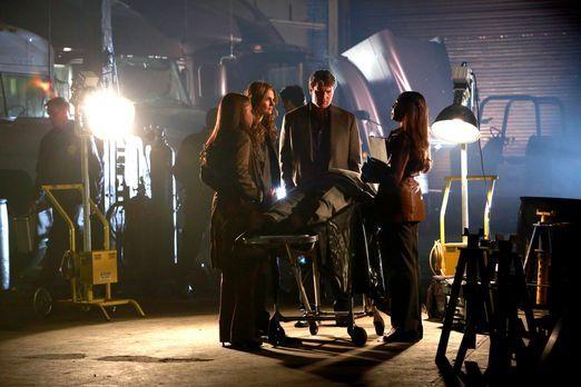 Castle - Beckett (Stana Katic, 2.v.l.) leitet eine geheime Ermittlung, um den...