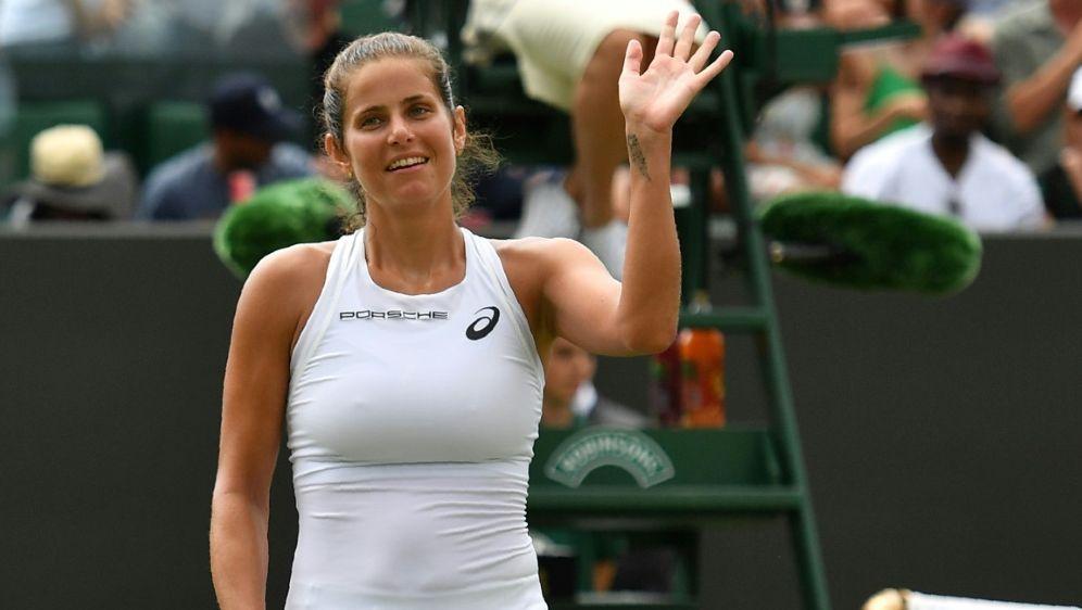Görges erreicht in Wimbledon das Viertelfinale - Bildquelle: AFPAFPBen STANSALL