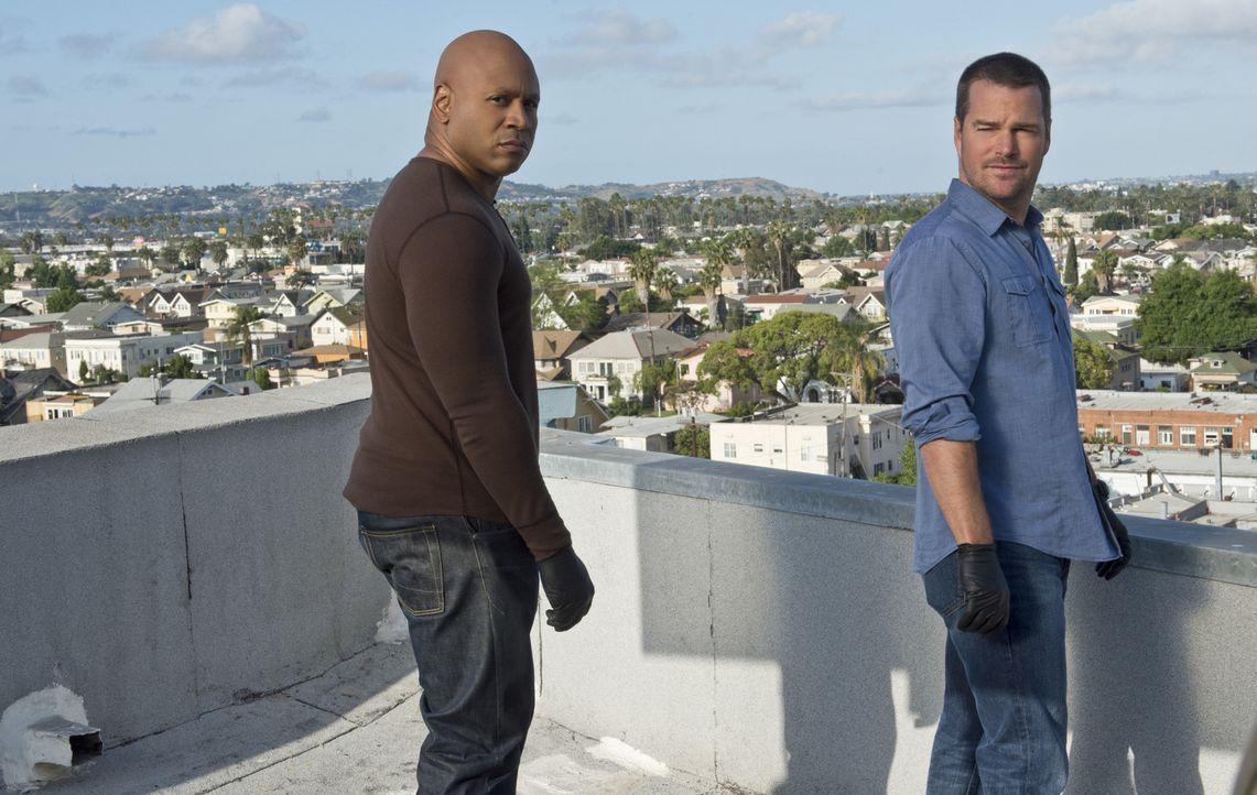 Ein neuer Fall wartet auf Callen (Chris O'Donnell, r.) und Sam (LL Cool J, l.) ... - Bildquelle: Richard Cartwright CBS Studios Inc. All Rights Reserved.