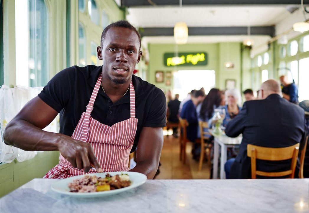 Lässt sich Usain Bolt (Bild) von Jamies und Jimmys Gerichten überzeugen oder schmeckt ihm das Gericht nach Art von Tante Lily doch am besten?