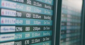 Flughafenanzeige der Boardingtimes