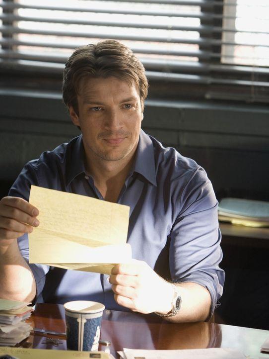 Hat der Täter vielleicht sogar einen Fanbrief an den Schriftsteller Richard Castle (Nathan Fillion) geschickt? - Bildquelle: ABC Studios