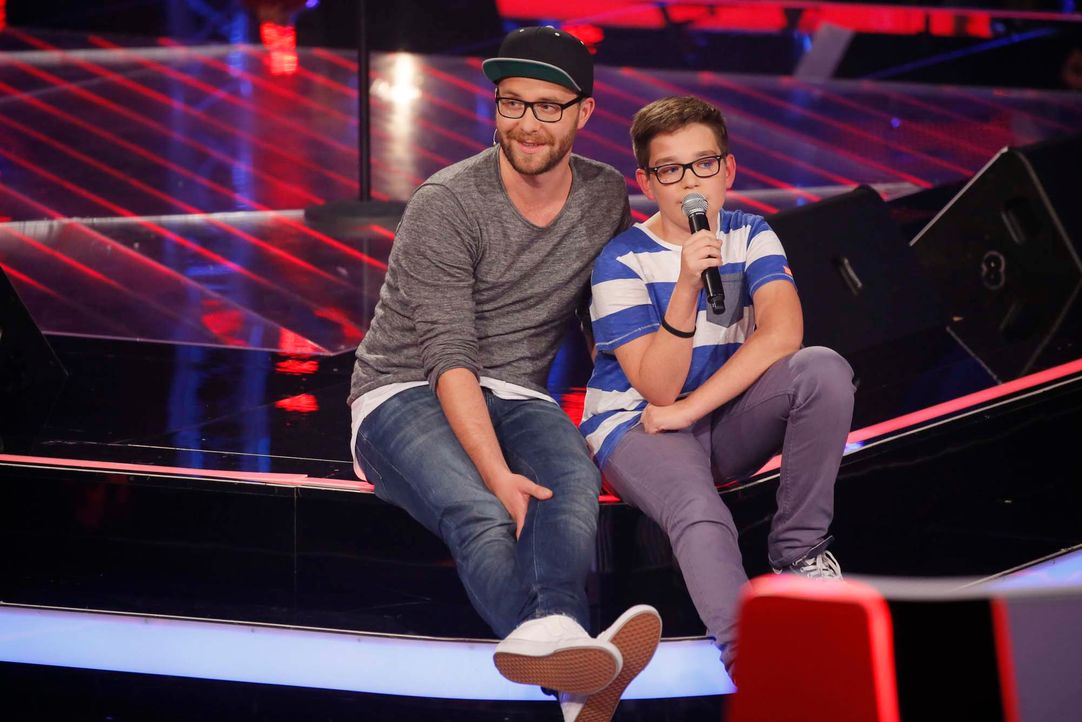 The-Voice-Kids-Stf04-Epi04-Danach-Maxime-33-SAT1-Richard-Huebner - Bildquelle: © SAT.1/ Richard Hübner