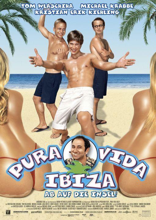Pura Vida Ibiza - Ab auf die Insel!: Ben (Kristian Erik Kiehling, M.), Felix (Thomas Wlaschiha, l.) und Nick (Michael Krabbe, r.) ... - Bildquelle: Concorde Filmverleih GmbH