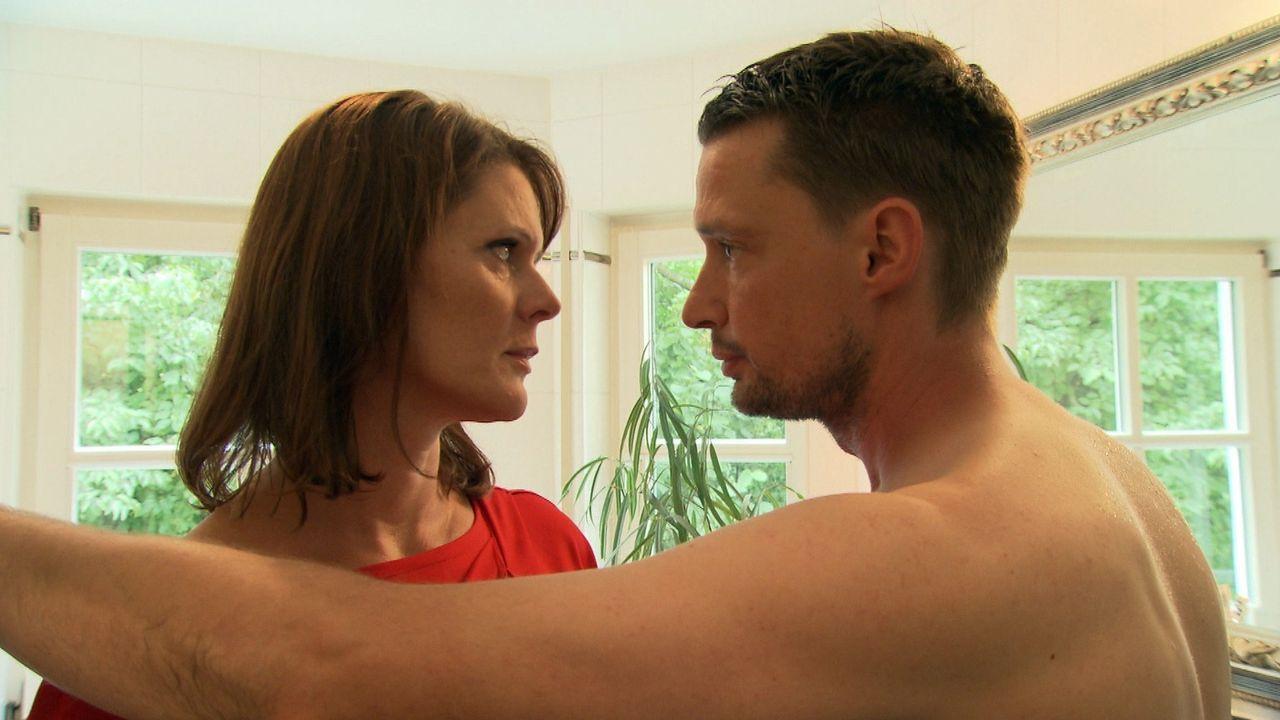 Wird Ines (l.) ihrem Mann Ben (r.) jemals wieder vertrauen können? - Bildquelle: SAT.1