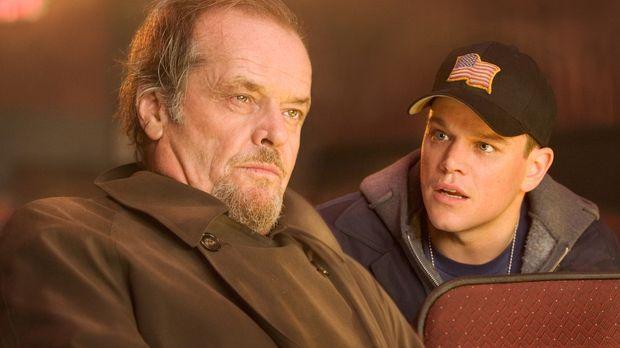 Dem irischen Gangsterboss Costello (Jack Nicholson, l.) gelingt es, den hartg...