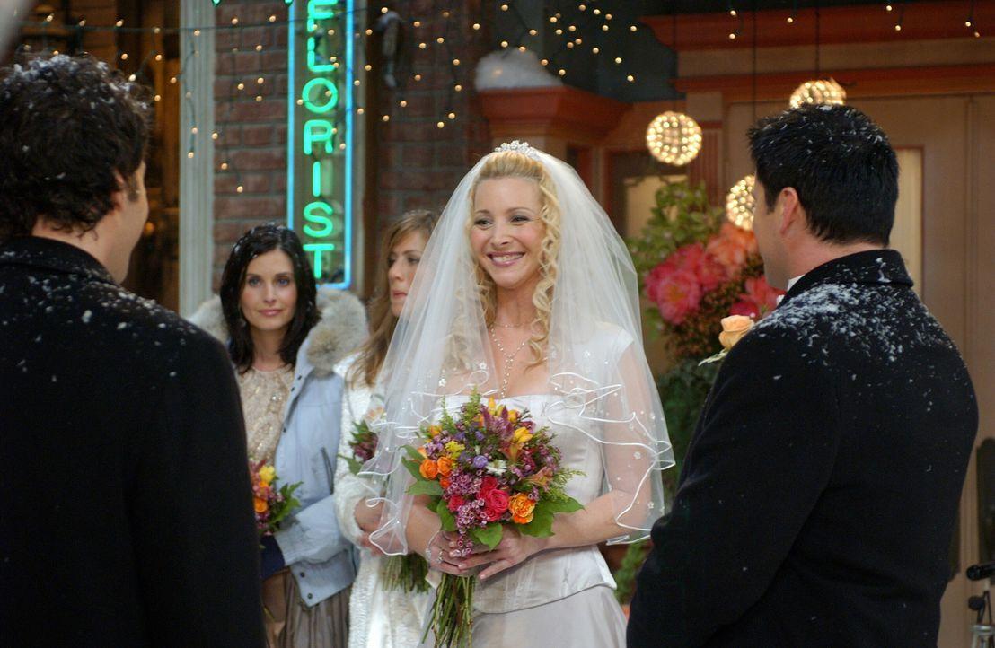 Der schönste Tag in Phoebes (Lisa Kudrow, M.) Leben ... - Bildquelle: 2003 Warner Brothers International Television