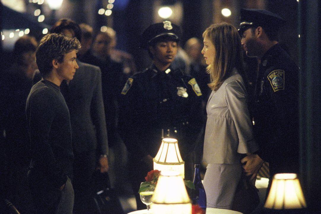 So hatte sich Chris (Jonathan Taylor Thomas, l.) sein erstes Date mit Ally (Calista Flockhart, r.) nicht vorgestellt, aber seiner Mutter gefällt die... - Bildquelle: 2000 Twentieth Century Fox Film Corporation. All rights reserved.